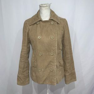 Gap quilted heavy lined corduroy pea coat jacket